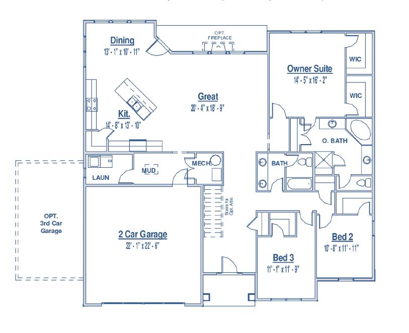 on rambler home floor plans with bat