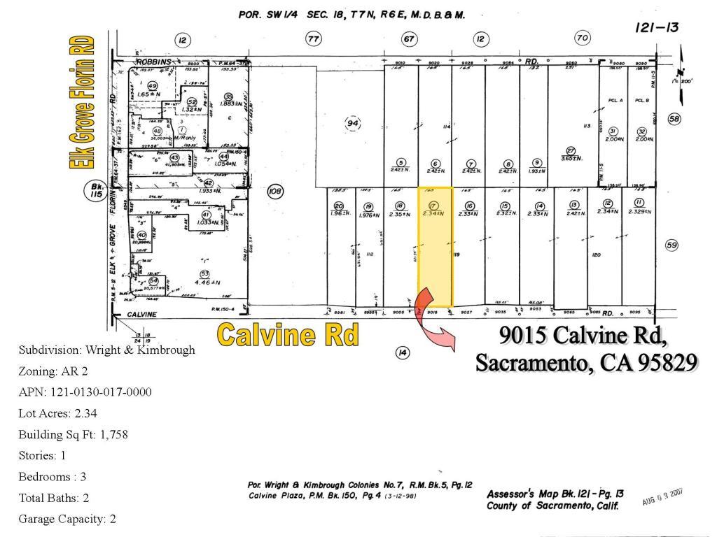 9015 Calvine Rd, Sacramento, CA - 3 Bed, 2 Bath Farm/Ranch ...